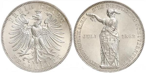 1 Thaler 法蘭克福自由市 銀
