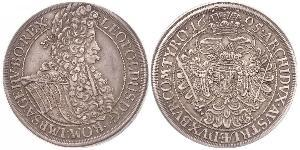 1 Thaler 神圣罗马帝国 (962 - 1806) 銀 利奥波德一世 (神圣罗马帝国)(1640-1705)
