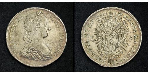 1 Thaler 神圣罗马帝国 (962 - 1806) 銀 玛丽亚·特蕾西亚 (1717 - 1780)
