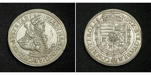 1 Thaler 神圣罗马帝国 (962 - 1806) 銀 斐迪南二世 (神圣罗马帝国) (1578 -1637)