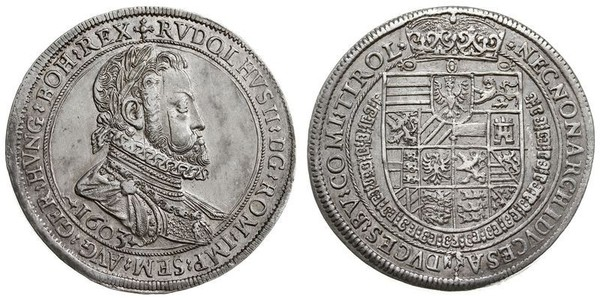 1 Thaler 神圣罗马帝国 (962 - 1806) 銀 鲁道夫二世 (神圣罗马帝国) (1552 - 1612)