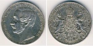 1 Thaler 联邦州 (德国) 銀 格奥尔格五世 (汉诺威) (1819 - 1878)