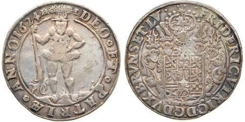 1 Thaler 联邦州 (德国) 銀 Frederick Ulrich, Duke of Brunswick-Wolfenbüttel (1591 - 1634)