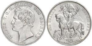 1 Thaler 萨克森王国 (1806 - 1918) 銀 约翰一世 (萨克森)