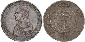 1 Thaler 萨克森王国 (1806 - 1918) 銀 弗里德里希·奥古斯特一世 (萨克森国王)