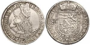 1 Thaler 阿尔萨斯 銀 斐迪南二世 (上奧地利)  (1529 – 1595)