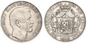 1 Thaler 黑森-达姆施塔特 (1806 - 1918) 銀 斐迪南 (黑森-洪堡)