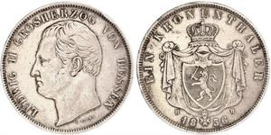 1 Thaler 黑森-达姆施塔特 (1806 - 1918) 銀 路德维希二世 (黑森大公)