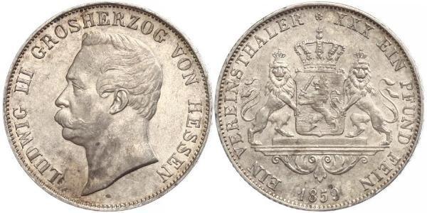 1 Thaler 黑森-达姆施塔特 (1806 - 1918) 銀