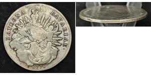 1 Thaler Electorate of Bavaria (1623 - 1806) 銀 Maximilian III Joseph, Elector of Bavaria (1727 – 1777)