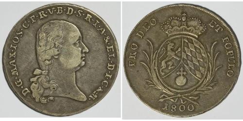 1 Thaler Electorate of Bavaria (1623 - 1806) 銀