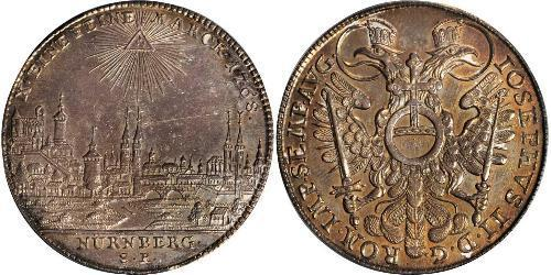 1 Thaler Free Imperial City of Nuremberg (1219 - 1806) 銀