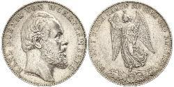 1 Thaler Kingdom of Württemberg (1806-1918) 銀 卡尔一世 (符腾堡)