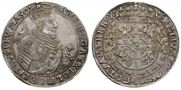 1 Thaler Polish-Lithuanian Commonwealth (1569-1795) 銀 Sigismund III of Poland