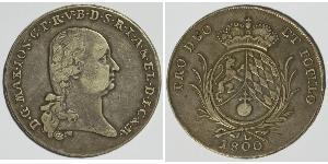 1 Thaler Électorat de Bavière (1623 - 1806) Argent