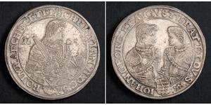 1 Thaler Électorat de Saxe (1356 - 1806) Argent Christian II de Saxe