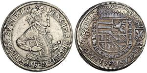 1 Thaler Alsace Argent Ferdinand de Tyrol (1529 – 1595)