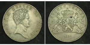 1 Thaler Duché de Nassau (1806 - 1866) Argent Guillaume de Nassau (1792-1839)