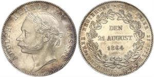 1 Thaler Duché de Nassau (1806 - 1866) Argent Adolphe (grand-duc de Luxembourg)