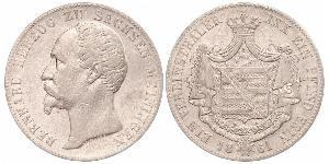 1 Thaler Duché de Saxe-Meiningen (1680 - 1918) Argent Bernard II de Saxe-Meiningen