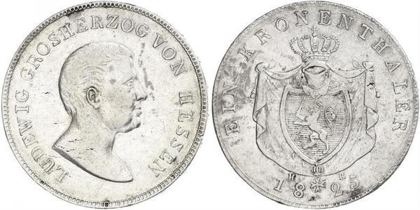 1 Thaler Grand-duché de Hesse (1806 - 1918) Argent Louis Ier (grand-duc de Hesse)