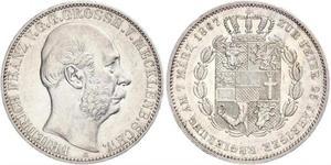1 Thaler Grand-duché de Mecklembourg-Schwerin (1352-1918) Argent Frédéric-François II de Mecklembourg-Schwerin
