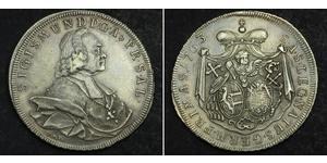 1 Thaler Habsburg Empire (1526-1804) Argent Sigismund von Schrattenbach