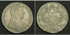 1 Thaler Habsburg Empire (1526-1804) Argent Maria Theresa of Austria (1717 - 1780)