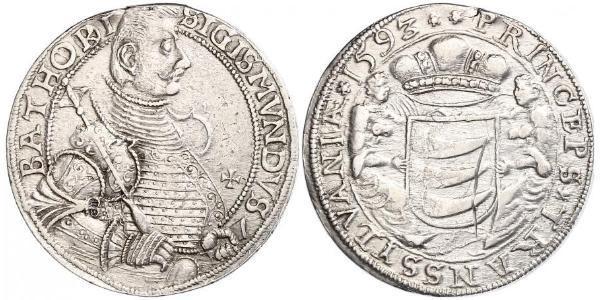 1 Thaler Principality of Transylvania (1571-1711) Argent Sigismond Ier Báthory (1572 -1613)
