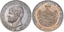 1 Thaler Principauté de Waldeck-Pyrmont (1180 - 1918) Argent Georges-Victor de Waldeck-Pyrmont (1831 - 1893)