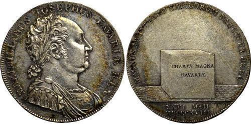 1 Thaler Royaume de Bavière (1806 - 1918) Argent Maximilien Ier de Bavière (roi) (1756 - 1825)