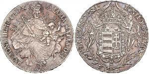 1 Thaler Royaume de Hongrie (1000-1918) Argent Joseph II, Holy Roman Emperor  (1741 - 1790)