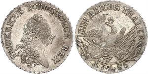 1 Thaler Royaume de Prusse (1701-1918) Argent Frédéric II de Prusse (1712 – 1786)