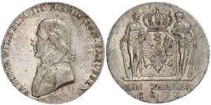 1 Thaler Royaume de Prusse (1701-1918) Argent Frédéric-Guillaume III de Prusse (1770 -1840)