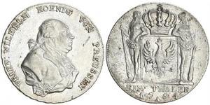 1 Thaler Royaume de Prusse (1701-1918) Argent Frédéric-Guillaume II de Prusse