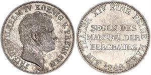 1 Thaler Royaume de Prusse (1701-1918) Argent Frédéric-Guillaume IV de Prusse (1795 - 1861)