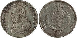 1 Thaler Royaume de Saxe (1806 - 1918) Argent Frédéric-Auguste Ier de Saxe