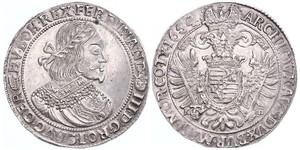 1 Thaler Saint-Empire romain germanique (962-1806) Argent Ferdinand III, Holy Roman Emperor (1608-1657)