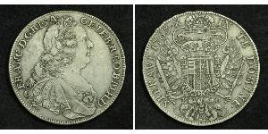 1 Thaler Saint-Empire romain germanique (962-1806) Argent François Ier du Saint-Empire(1708-1765)
