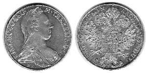 1 Thaler Saint-Empire romain germanique (962-1806) Argent Maria Theresa of Austria (1717 - 1780)