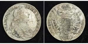 1 Thaler Saint-Empire romain germanique (962-1806) Argent François Ier du Saint-Empire(1708-1765)