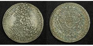 1 Thaler Saint-Empire romain germanique (962-1806) Argent Léopold Ier de Habsbourg(1640-1705)