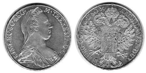 1 Thaler Saint-Empire romain germanique (962-1806) Argent Maria Theresa of Austria (1717 - 1780)