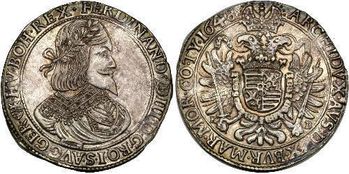 1 Thaler Saint-Empire romain germanique (962-1806) Argent Ferdinand III, Holy Roman Emperor (1608-1657)