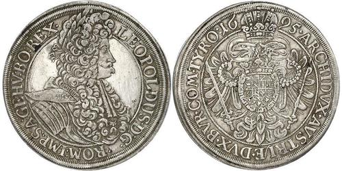 1 Thaler Saint-Empire romain germanique (962-1806) Argent Léopold Ier de Habsbourg(1640-1705)