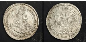 1 Thaler Saint-Empire romain germanique (962-1806) / Hongrie Argent Léopold Ier de Habsbourg(1640-1705)