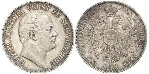 1 Thaler States of Germany Argent