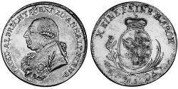 1 Thaler Anhalt-Bernburg (1603 - 1863) Argento Federico Alberto di Anhalt-Bernburg(1735 – 1796)