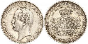 1 Thaler Anhalt-Dessau (1603 -1863) / Anhalt (1806 - 1918) Argento Leopoldo IV di Anhalt-Dessau (1794 – 1871)