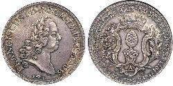 1 Thaler Augusta (Germania) (1276 - 1803) Argento Francesco I di Lorena(1708-1765)